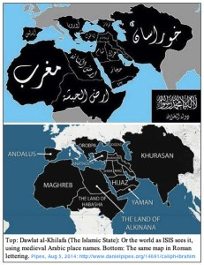 Pipes The Islamic Caliphate map with link for Web site upload
