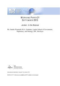 ICTWPS - Sandra Warmoth - Jordan - In the Balance